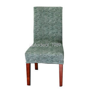 Dustproof Protector Slipcover Stretch Textured 4pcs Chair Cover Seat Room Decor