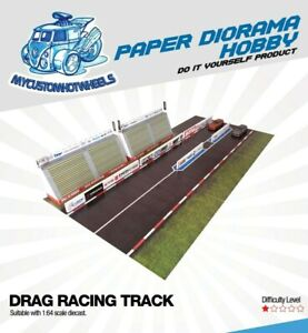 1:64 scale Racing Track & Drag Strip - Diorama Building Kits for Hot Wheels