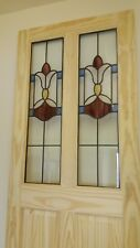 ( Brand New ) Traditional Stained Glass Internal Door (Clear Pine)