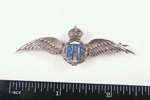 WW2 RAF WINGS ROYAL AIR FORCE WINGS SWEETHEARTS VETERAN BADGE SOLID SILVER