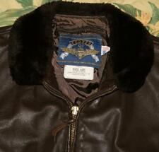 Mens 2001 COOPER Brown Leather G-1 Naval Bomber Jacket Made In USA 42 Reg