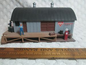 """Vtg HO Scale Conoco Gas Service Station 5.4 """" X 4.6"""" Foot 3.2"""" Tall nr"""