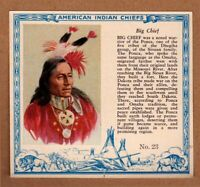 1952 Red Man American Indian Chiefs #23 / Big Chief / Ponca / T129