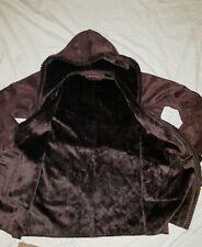 Women's warm winter snow brown fur coat jacket size L  XL 1X ? Very Cute