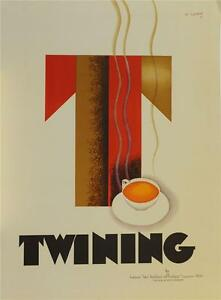 Twining Tea Advertising Poster Fine Art Lithograph Charles Loupot S2