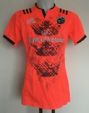 MUNSTER RUGBY 2016-17 PLAYER ORANGE TRAINING JERSEY BY ADIDAS SIZE MEN'S LARGE