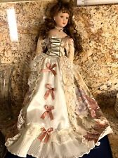 Vtg. Doll Romantic Handmade, painted bisque & fabric, Lg.Collectible!