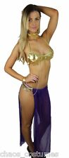 Sexy Princess Leia Star Wars Belly Dancer Arabian Halloween Costume 6 8 10