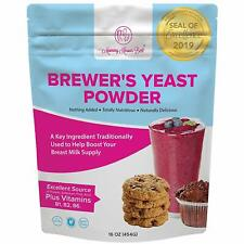 Brewers Yeast Powder for Lactation - Mild Nutty Flavored Unsweetened - 16 ounces