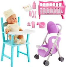 deAO 'My First Baby Doll' Play Set with Sounds New Born Dummy Realistic Kids Toy
