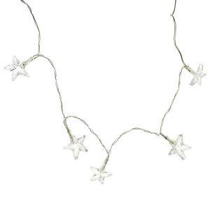 Light Up Mini Transparent Star Garland, 6-Feet