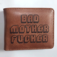 BAD MOTHER F***ER Pulp Fiction Bifold Brown Wallet Coins Cards Notes