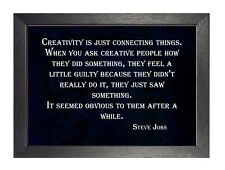 Steve Jobs Quote 6 Creative People Poster Motivational Inspirational Black White