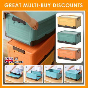 Quality Durable Plastic Storage Coloured Boxes With Lids Home Office Stackable