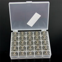 25PCS METAL EMPTY BOBBINS CASE BOX SINGER SEWING MACHINE PARTS NEW
