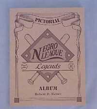 Signed Pictorial Negro League Legends Album Baseball Book