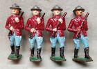 4 Vintage Lead Metal Toy Soldiers.