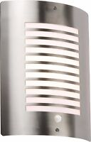 Modern Stainless Steel Outdoor Slotted Wall Light with PIR IP44 - NH028S