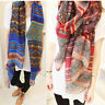 Women Girl Chiffon Voile Geometric Long Soft Neck Scarf Shawl Wrap Scarves Stole