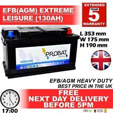 12V 130AH EFB AGM LEISURE BATTERY HEAVY DUTY LOW HEIGHT (100 ah 110ah 120ah 125