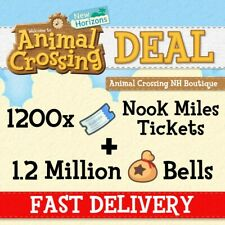 1200 Nook Miles Tickets (NMT) - Animal Crossing NH + 1,2 mln bells