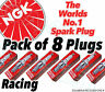 8x NEW NGK Racing SPARK PLUGS - Part No. R7282A-11 Stock No. 4754 8pk Sparkplugs