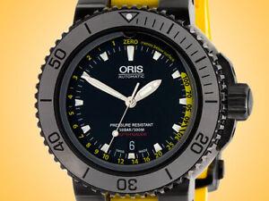Oris Aquis Depth Gauge Automatic Black DLC-coated Stainless Steel Men's Watch