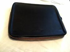 Tod's Black Leather Computer Case / Document Holder MSRP $795