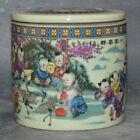 10.5cm Chinese Old Ancient Antique Porcelain Handmake Pastel Cricket Pots Decor