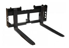 """Titan Attachments Skid Steer 48"""" Pallet Fork and Trailer Hitch"""
