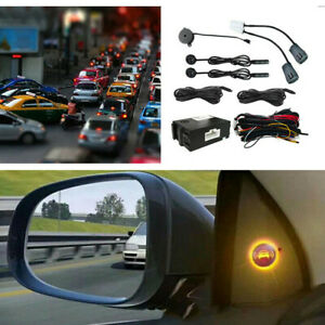 Car Blind Spot Detection Rear View Monitor System Universal w/Ultrasonic Sensor