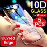 10D für iPhone X XS MAX XR Full Cover gehärtetes Glas Displayschutzfolie gebogen
