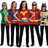 C956 Superhero T-Shirt Women Costume Wonder Woman Robin Supergirl Batgirl & Cape