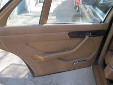 MERCEDES W126 560SEL 86 USED LEFT REAR INTERIOR DOOR TRIM PANEL PALAMINO 1986