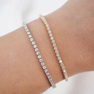 3 Carat TCW White Natural Diamond Tennis Bracelet 14K Rose Gold