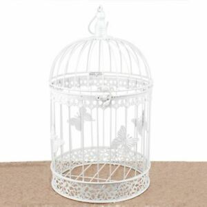 Bird Cage Wishing Well Alternative For Wedding Money Gift Round Metal Birdcage