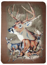 Brown 5 Deer Hunting Redneck 50x60 Polar Fleece Blanket Throw