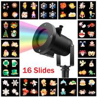 16 Patterns Waterproof Outdoor Garden Projector RGB Laser Xmas Stage Lamp Light