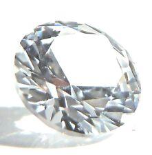 Round 6 mm 1 ct Gemstone Cut VVS White Sapphire Brilliant Diamond Solitaire