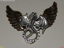 Lo Steampunk Gothic Spilla Badge Pin GUFO Harry Potter Argento Drago Game of Thrones