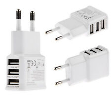 European Dual 2 Pins USB AC Power Adapter EU Plug Wall Charger Mobile Smartphone