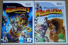 Nintendo Wii Game Lot - Madagascar 3 (New) Madagascar Kartz (New)