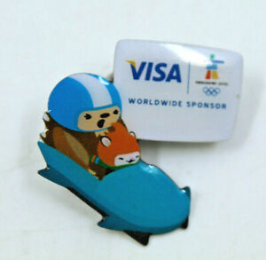 2010 Vancouver Winter Olympics VISA WorldWide Sponsor Bobsleigh Collectible Pin