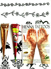 Organic henna and glitter kit, 12 different colours! create amazing designs F2