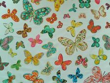 Schumacher Curtain Fabric BUTTERFLY 3.6m Lulu DK - Multi - Cotton Design 360cm