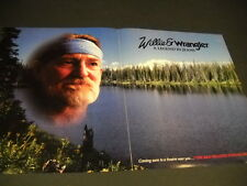 WILLIE NELSON & Wrangler LEGEND IN JEANS 1986 Supersized PROMO DISPLAY AD