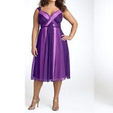 Übergröße XL-5XL Damen Chiffon Kurz Frauen Ballkleider Abendkleider Partykleider