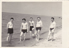 1955 Handsome nude muscle men on the beach gay interest Russian Soviet photo