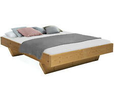 CURBY Wangenbett ohne Kopfteil THERMO-Fichte Massivholzbett Doppelbett 160x200