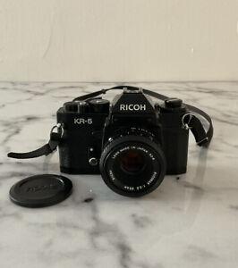 RICOH KR-5 35mm FILM SLR MANUAL CAMERA WITH RIKENON 55mm F/2.2 LENS